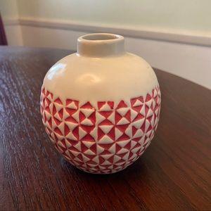 Fall themed apple shaped mini vase